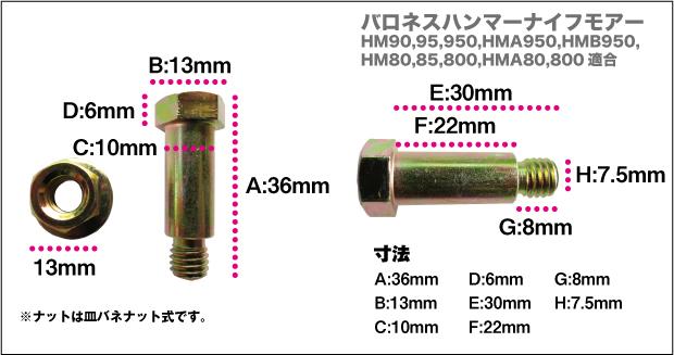 バロネスボルトセットHM950